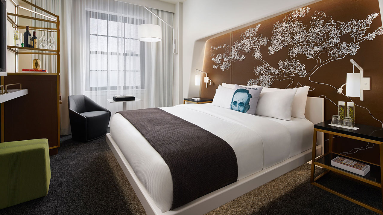 W Hotel Washington DC bedroom