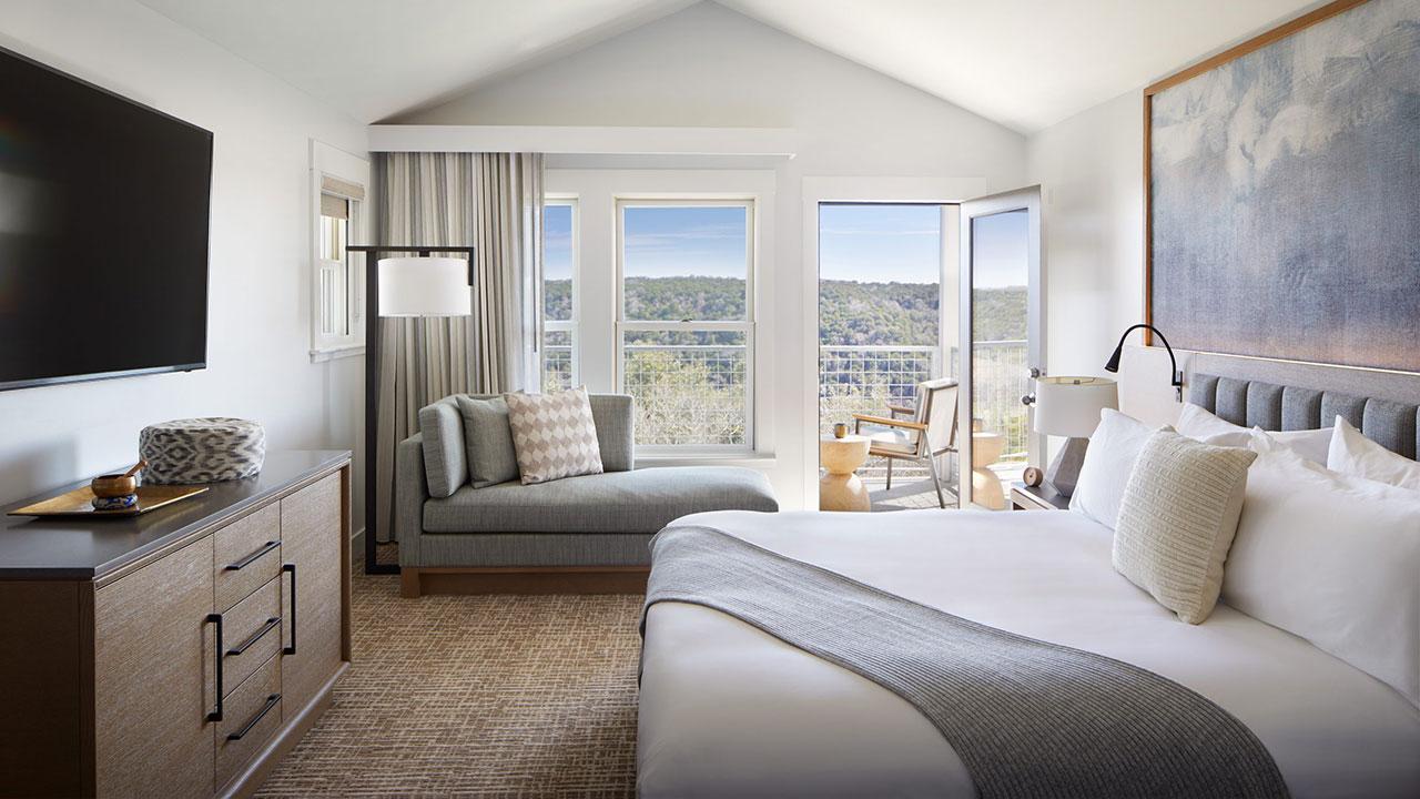 Miraval Hotel, Austin, TX bedoom suite